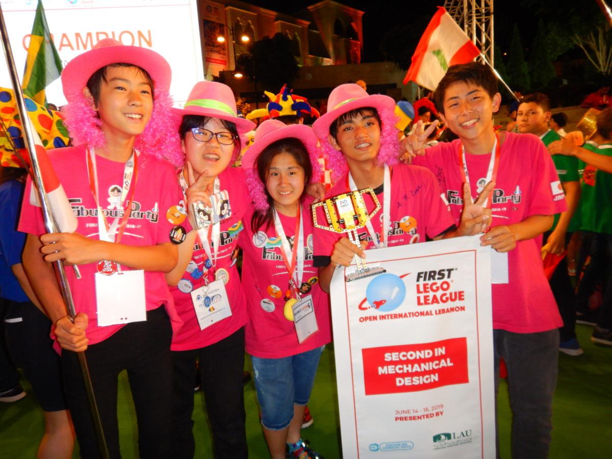 【FLL世界大会レバノン】fabulous partyがロボットデザイン2位!